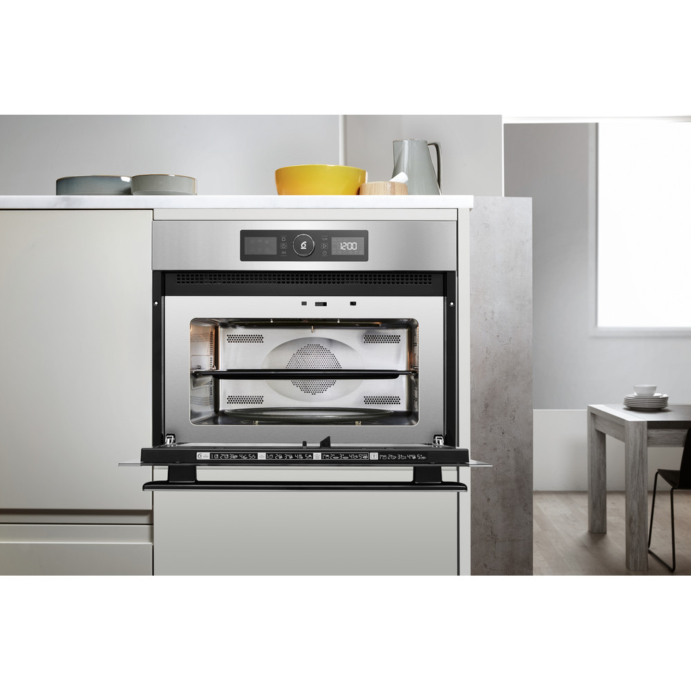 Whirlpool built in microwave oven: in Stainless Steel  - AMW 9615/IX UK