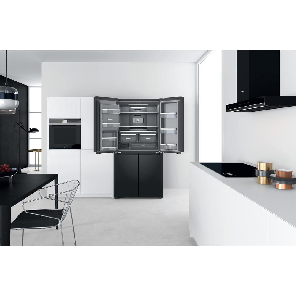 Whirlpool W Collection WQ9I FO1BX UK Fridge Freezer - Black Steel