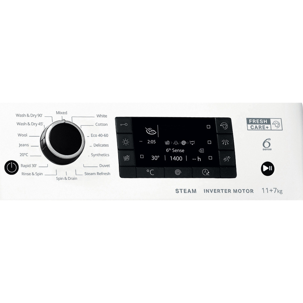 Whirlpool FWDD117168W UK N Washer Dryer 11+7kg 1600rpm - White