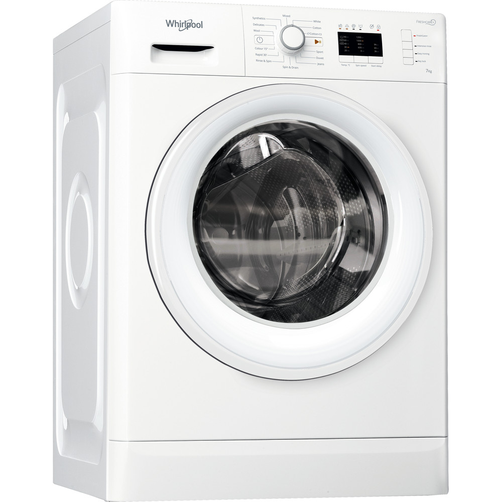 FWL71253W Whirlpool washing machine: 7kg - FWL71253W UK
