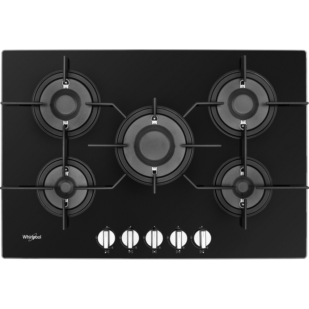 Whirlpool POW 75D2/NB Gas Hob 5 Burners 75cm - Black