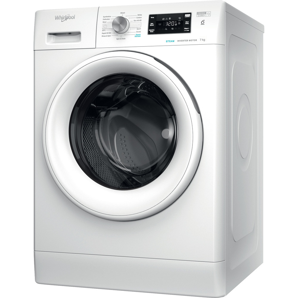 FFB7438WVUK Whirlpool FreshCare FFB 7438 WV UK Washing Machine 7kg 1400rpm - White