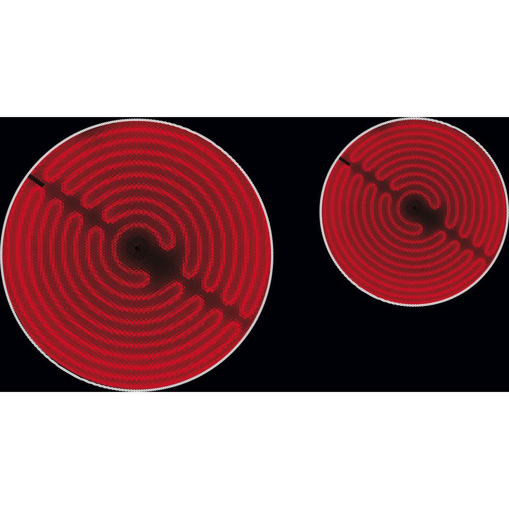 Whirlpool AKM 609 IX Ceramic Hob 4 Zones 60cm - Black