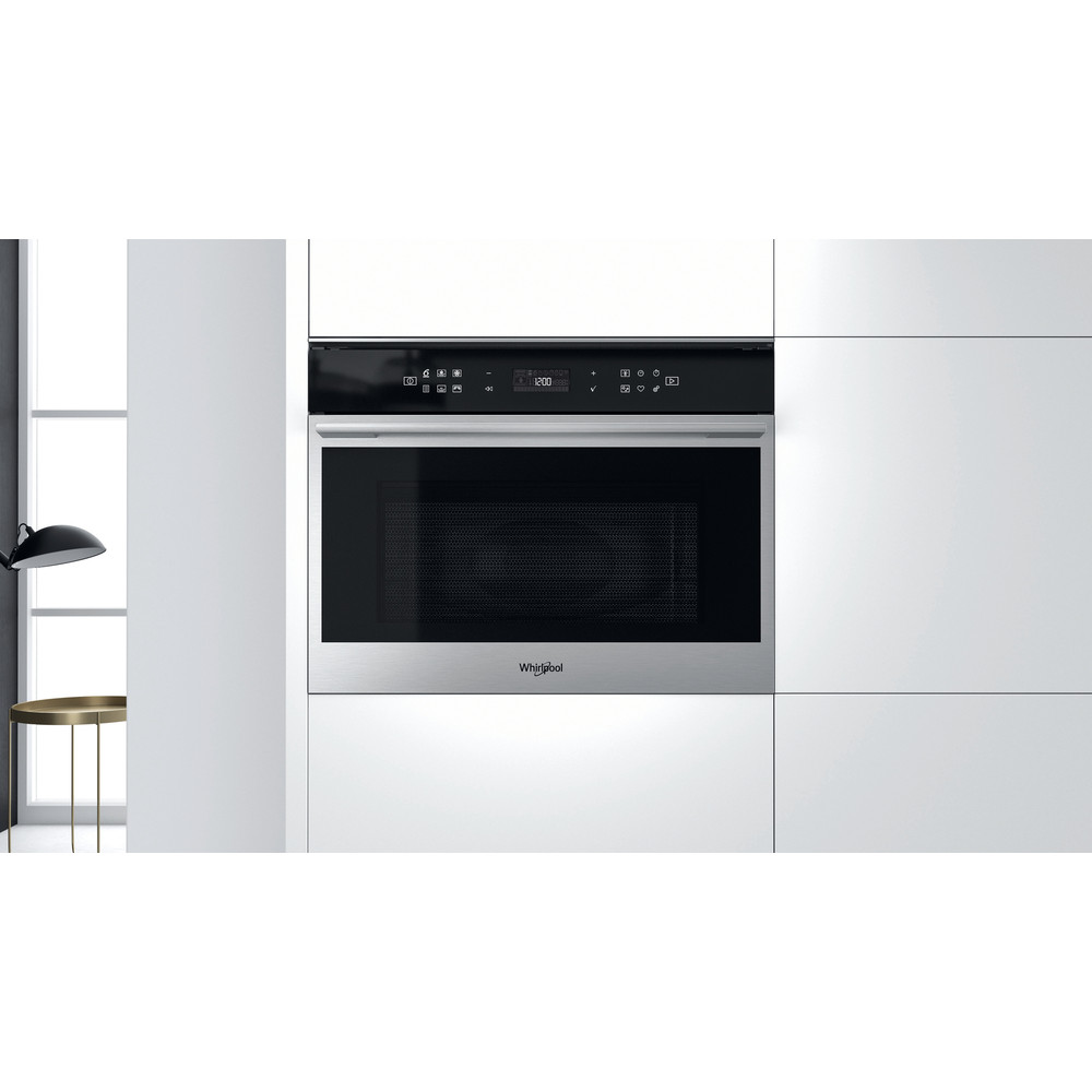 Whirlpool W Collection W7 MW461 UK Built-in Microwave Oven - Stainless Steel
