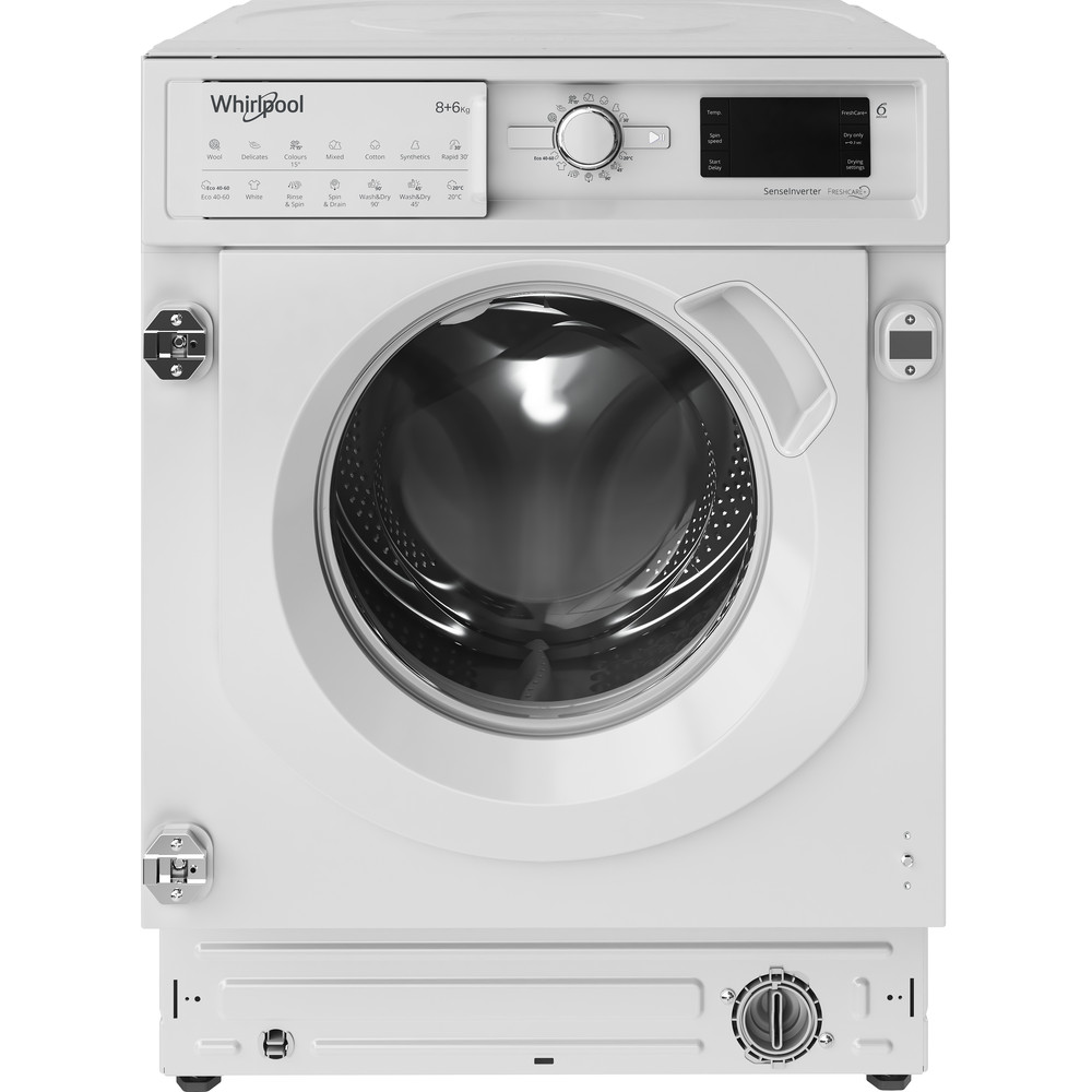 BIWDWG861484 Whirlpool BI WDWG 861484 UK Built in Washer Dryer 8+6kg 1400rpm - White