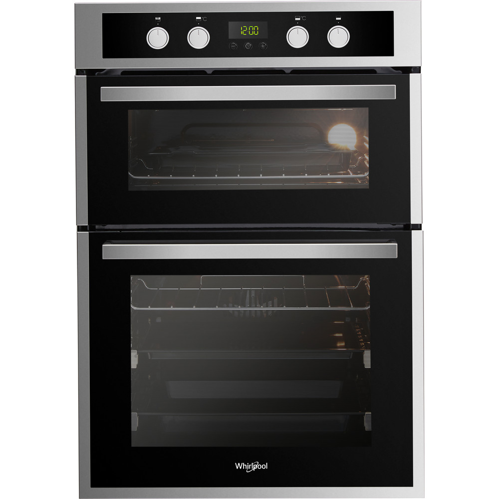 AKL309IX Whirlpool AKL 309 IX Built-in Double Oven in Inox and Black