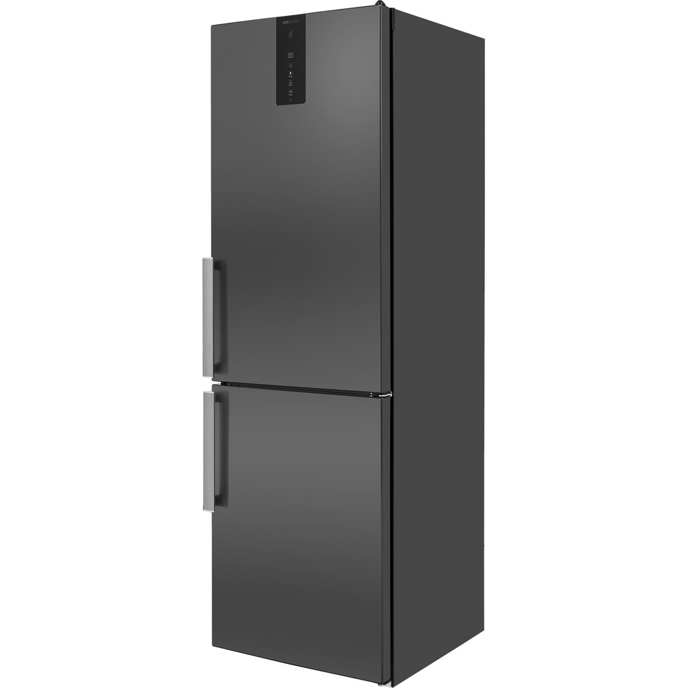 W9821DKSH Whirlpool W9 821D KS H (UK) Fridge Freezer Frost Free 318L - Black Inox