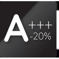 Energiahatékonysági osztály A +++ - 20%