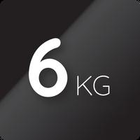 6 kg kapacitás