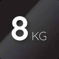 8 kg capaciteit