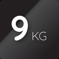 9 kg kapacitás (mosás)