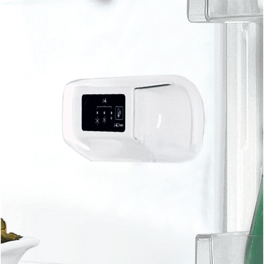 Indsit Racitor-congelator combinat Independent LI8 S1E S AQUA Silver 2 doors Control panel
