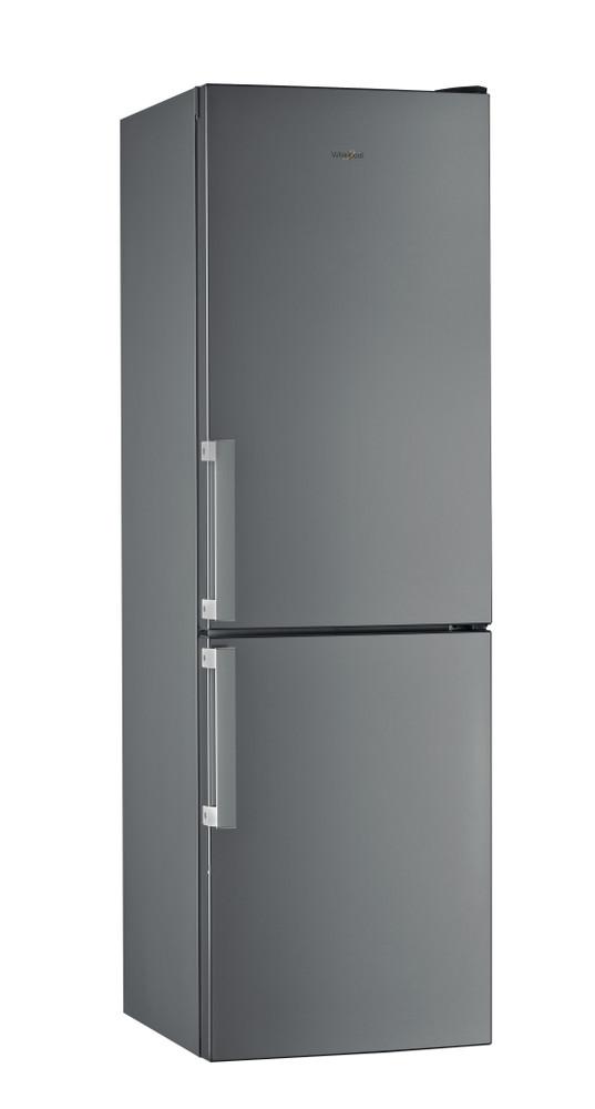 Whirlpool Racitor-congelator combinat De sine statator W5 811E OX H Optic Inox 2 doors Perspective