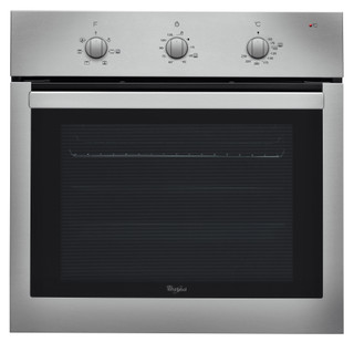 Whirlpool built in electric oven: inox color, self cleaning - AKP 738 IX