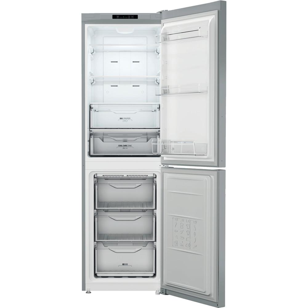 Indesit Combinazione Frigorifero/Congelatore A libera installazione XI8 T1I X Inox 2 porte Frontal_Open