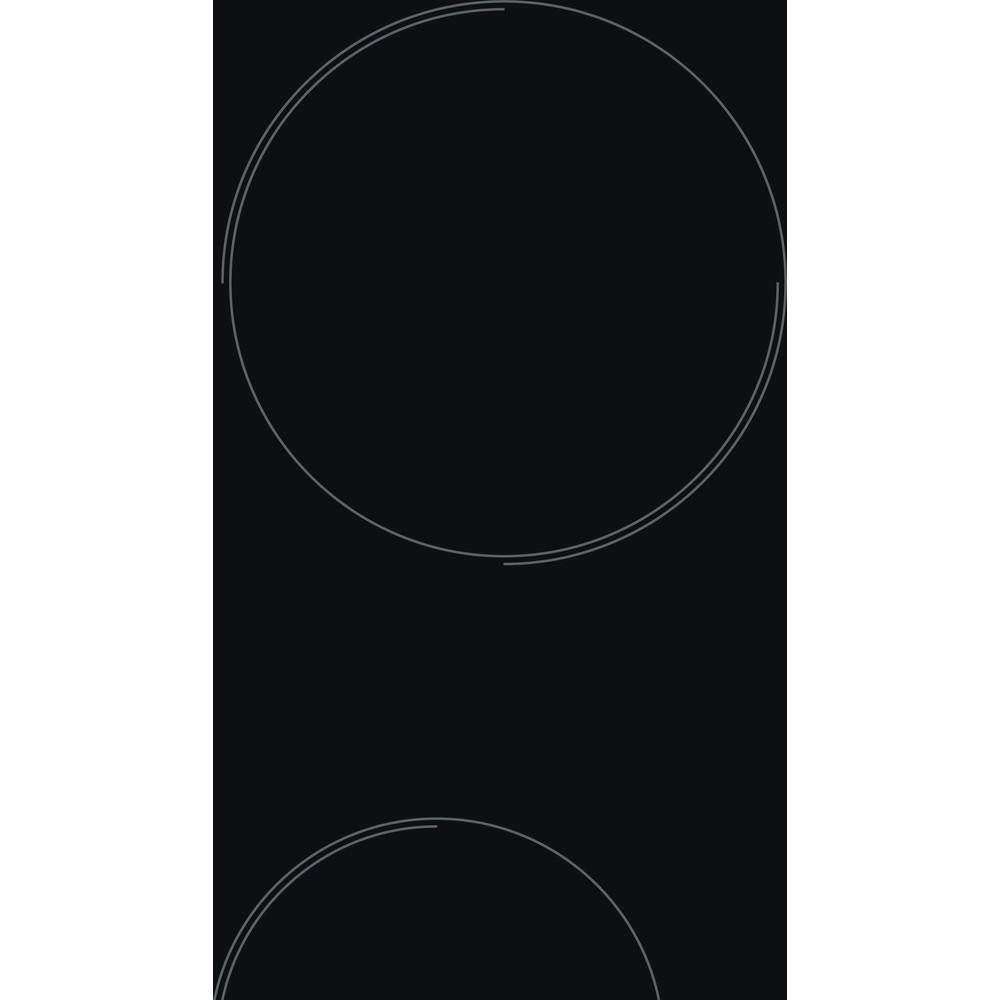 Indesit HOB RI 861 X Black Radiant vitroceramic Heating element