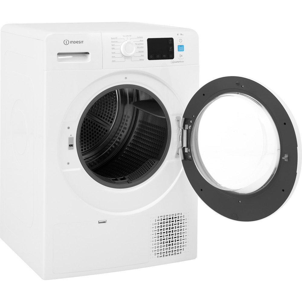 Indesit Dryer YT M11 82 X UK White Perspective open