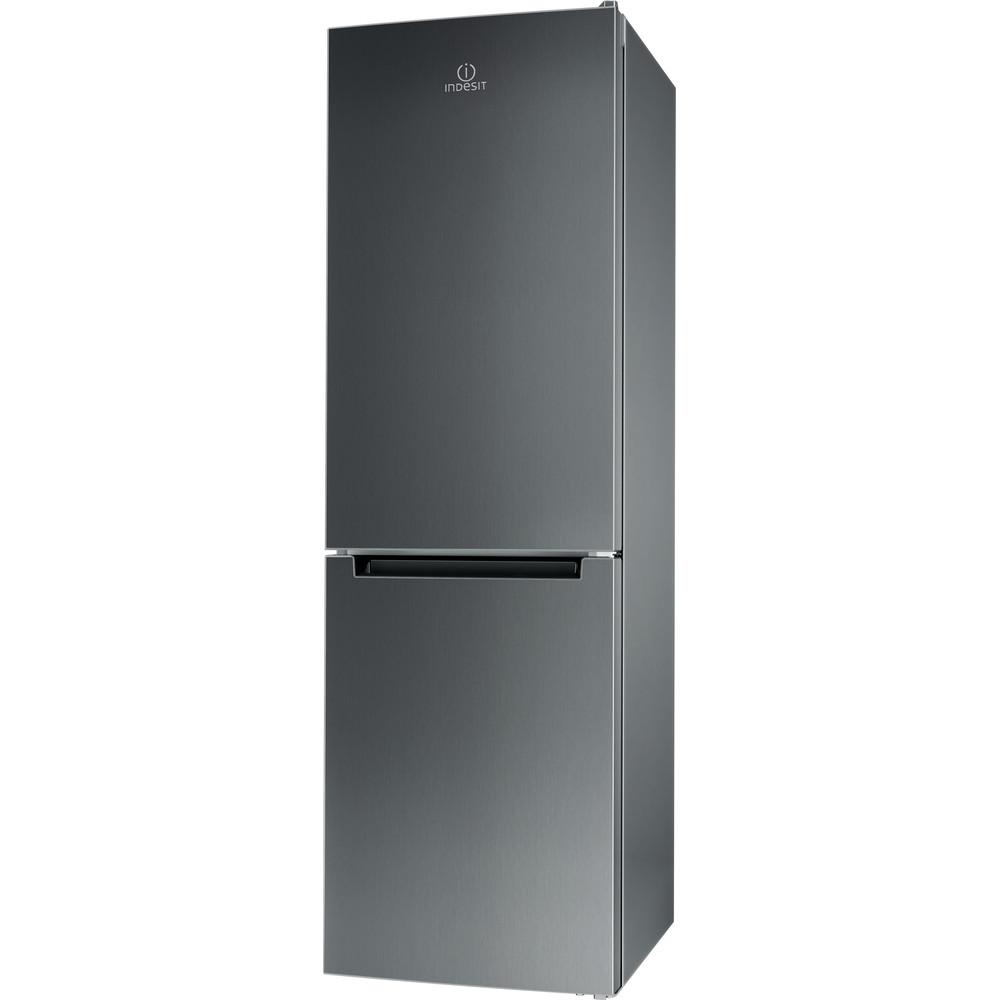 Indesit Холодильник с морозильной камерой Отдельно стоящий LI8 FF2 X Inox 2 doors Perspective