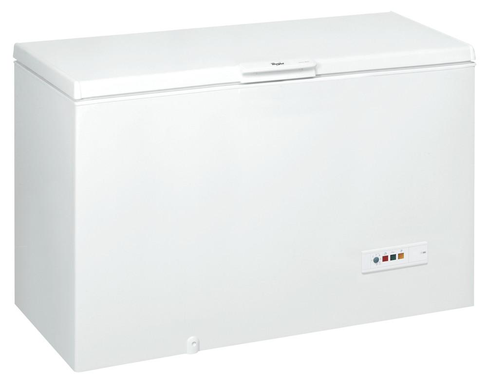 Whirlpool Pakastimessa Vapaasti sijoitettava WHM4600 2 Valkoinen Perspective