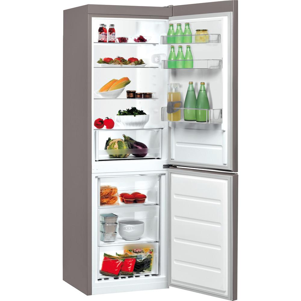 Indesit Kombinovaná chladnička s mrazničkou Volně stojící LR7 S2 X Nerez 2 doors Perspective open