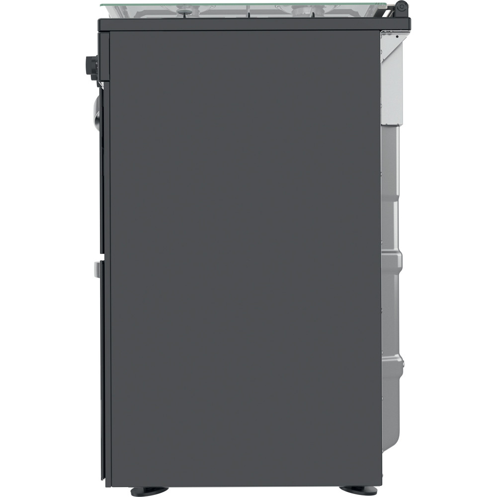 Indesit Double Cooker ID67G0MCB/UK Black A+ Back / Lateral