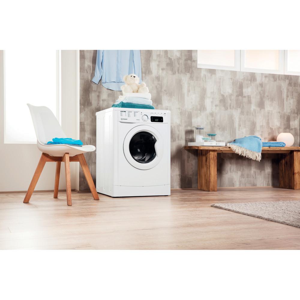 Indesit Tvättmaskin med torktumlare Fristående EWDE 751451 W EU N White Front loader Lifestyle perspective