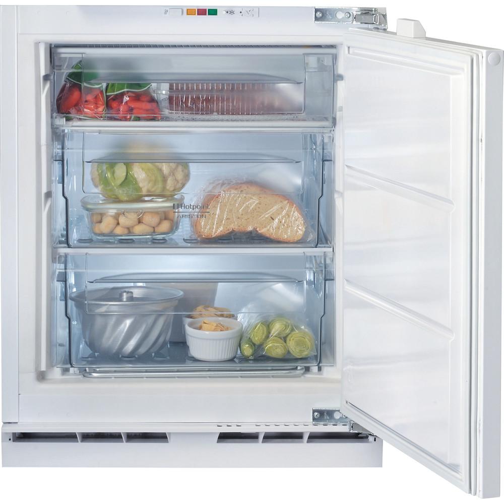 Hotpoint_Ariston Congelador Encastre BFS 1222.1 Aço Frontal open