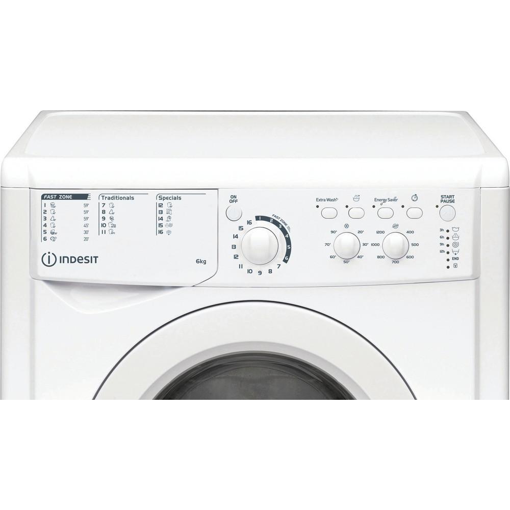 Indesit Перална машина Свободностоящи EWSC 61251 W EU N Бял Предно зареждане A+++ Control panel