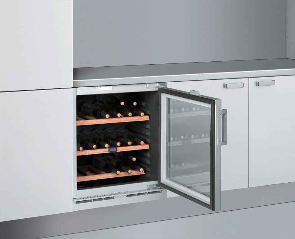 Whirlpool Vitrină pentru vinuri Incorporabil ARZ000W Argintiu Lifestyle perspective open