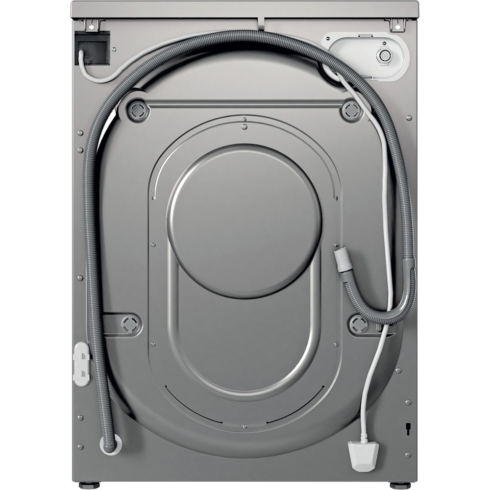 Indesit Washer dryer Free-standing IWDC 65125 S UK N Silver Front loader Back / Lateral