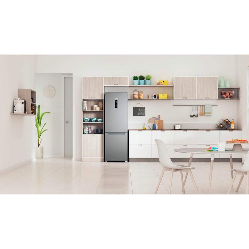 Indesit Холодильник з нижньою морозильною камерою. Соло ITI 5181 S UA Сріблястий 2 двері Lifestyle frontal