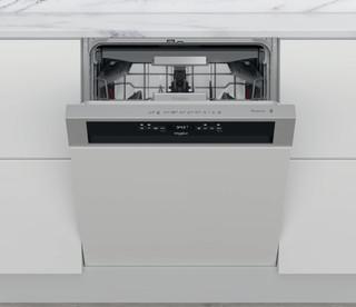Whirlpool félig integrált mosogatógép: Inox szín, normál méretű - WBO 3T133 PF X