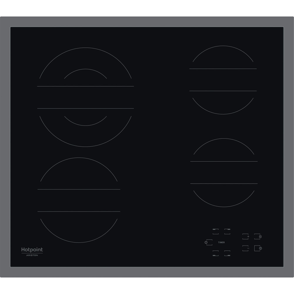 Hotpoint_Ariston Печка HR 642 X CM Черно Radiant vitroceramic Frontal