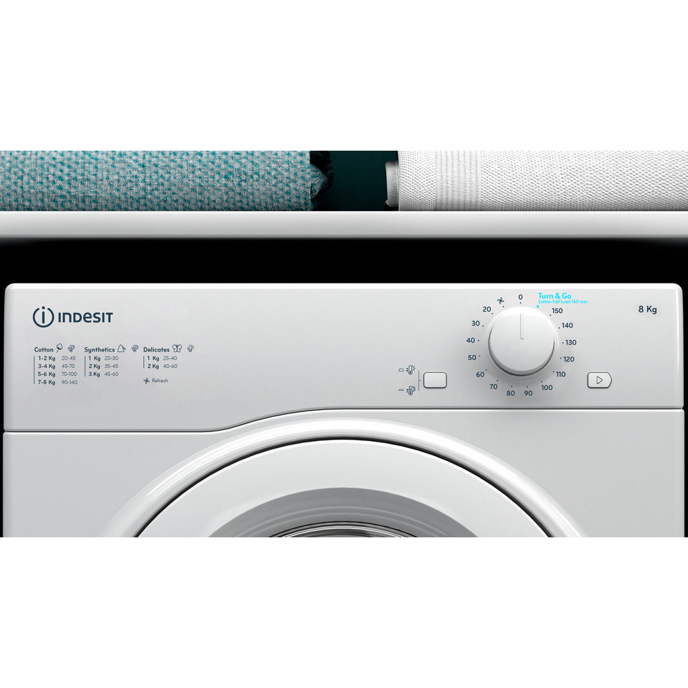 Indesit Droogautomaat I1 D81W EE Wit Lifestyle control panel