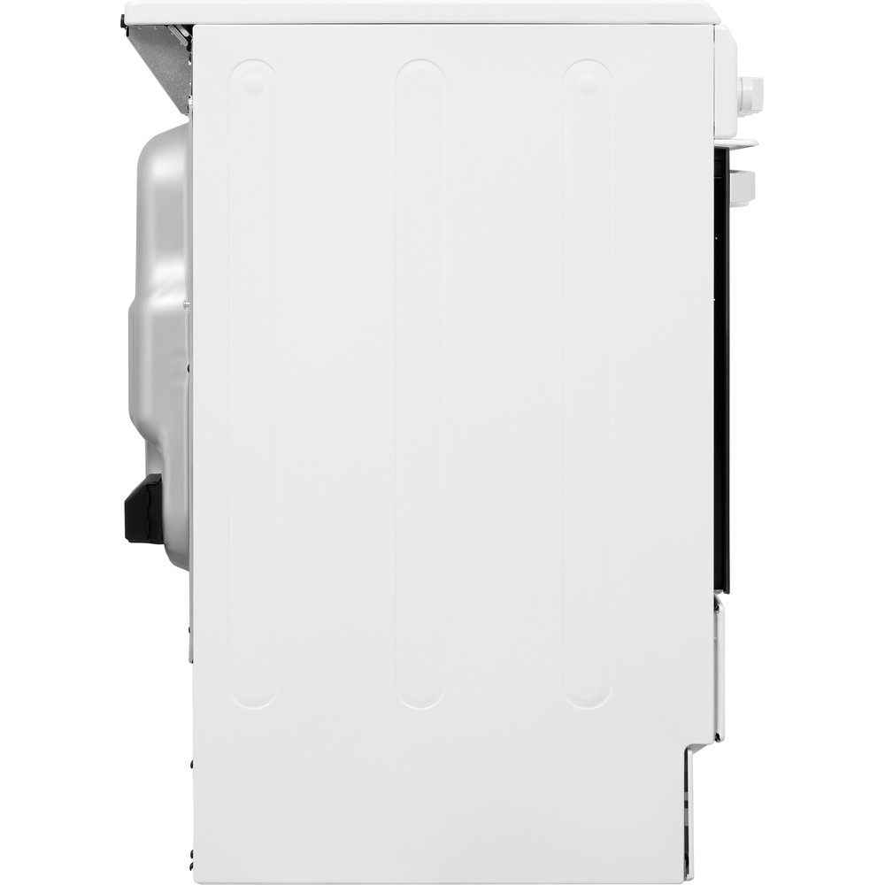 Indesit Cooker IS5V4KHW/UK White Electrical Back / Lateral