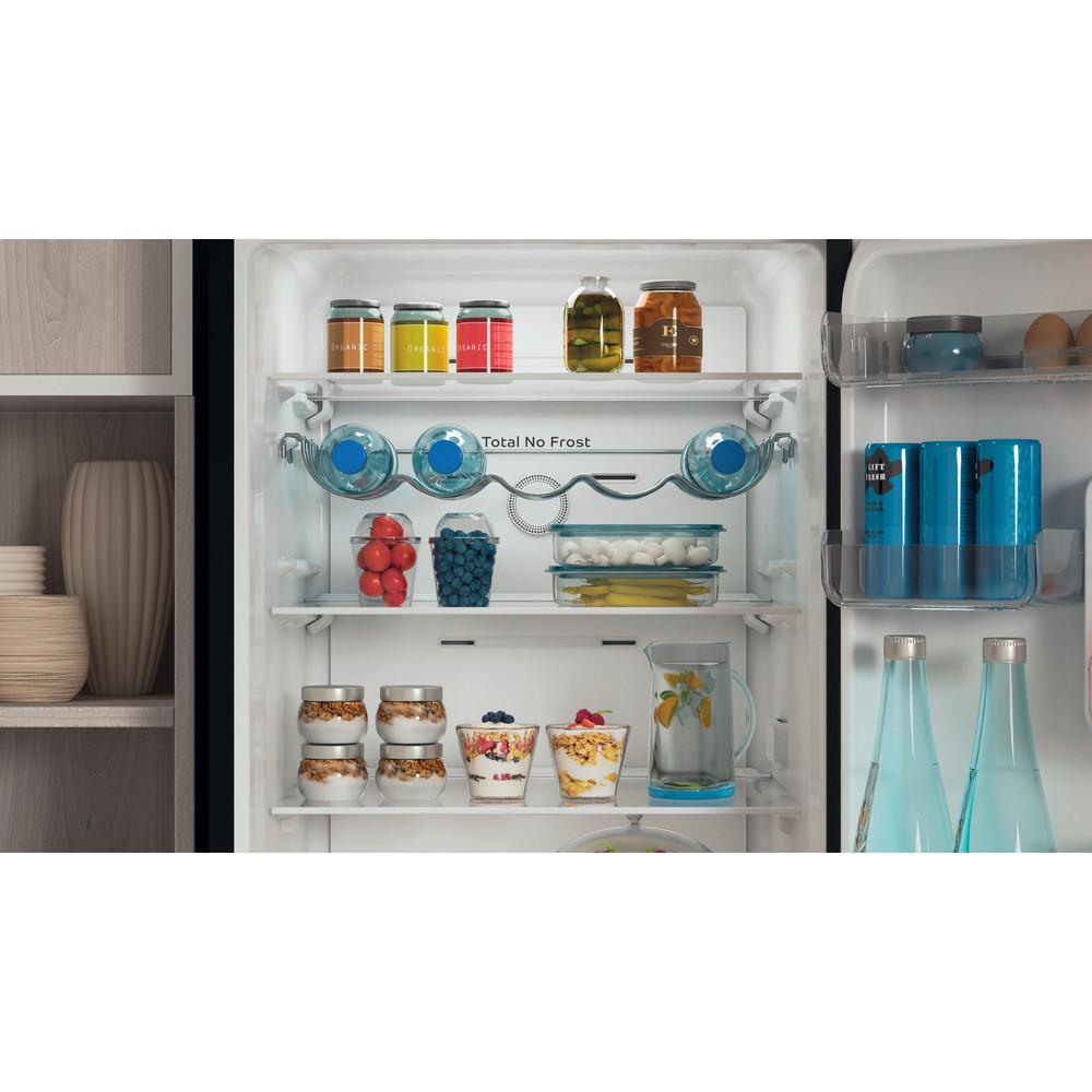 Indesit Réfrigérateur combiné Pose-libre INFC8 TO22K Noir 2 portes Lifestyle detail