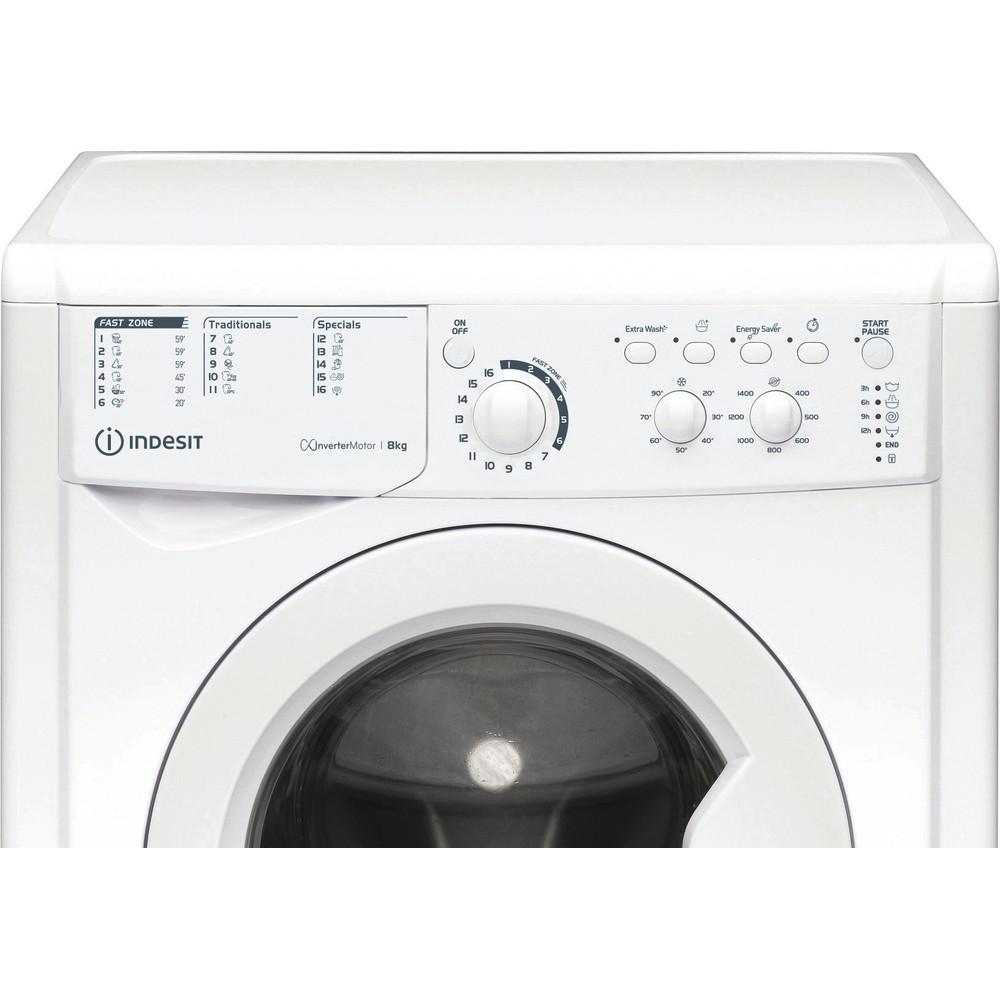Indesit Перална машина Свободностоящи EWC 81483 W EU N Бял Предно зареждане D Control panel