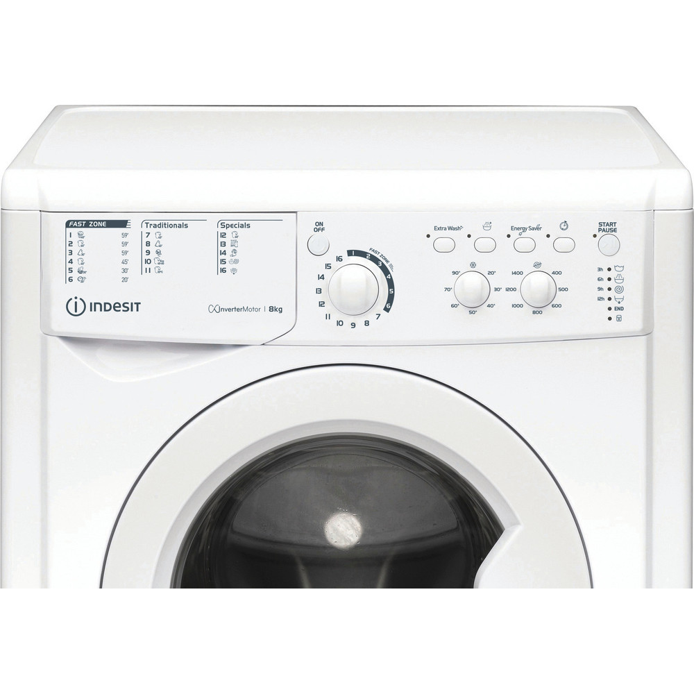 Indesit Lave-linge Pose-libre EWC 81483 W EU N Blanc Frontal D Control panel