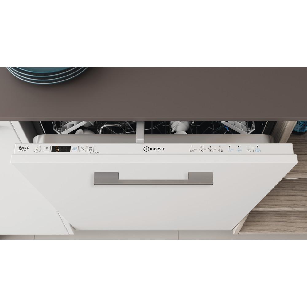 Indesit Vaatwasser Ingebouwd DIC 3C24 Volledig geïntegreerd E Lifestyle control panel
