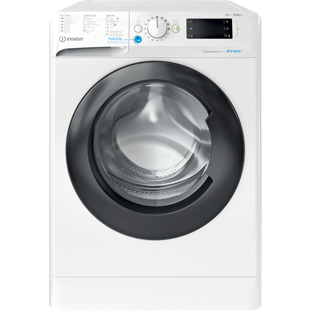 Indesit Lave-linge Pose-libre BWEBE 101683X WK N Blanc Frontal A+++ Frontal