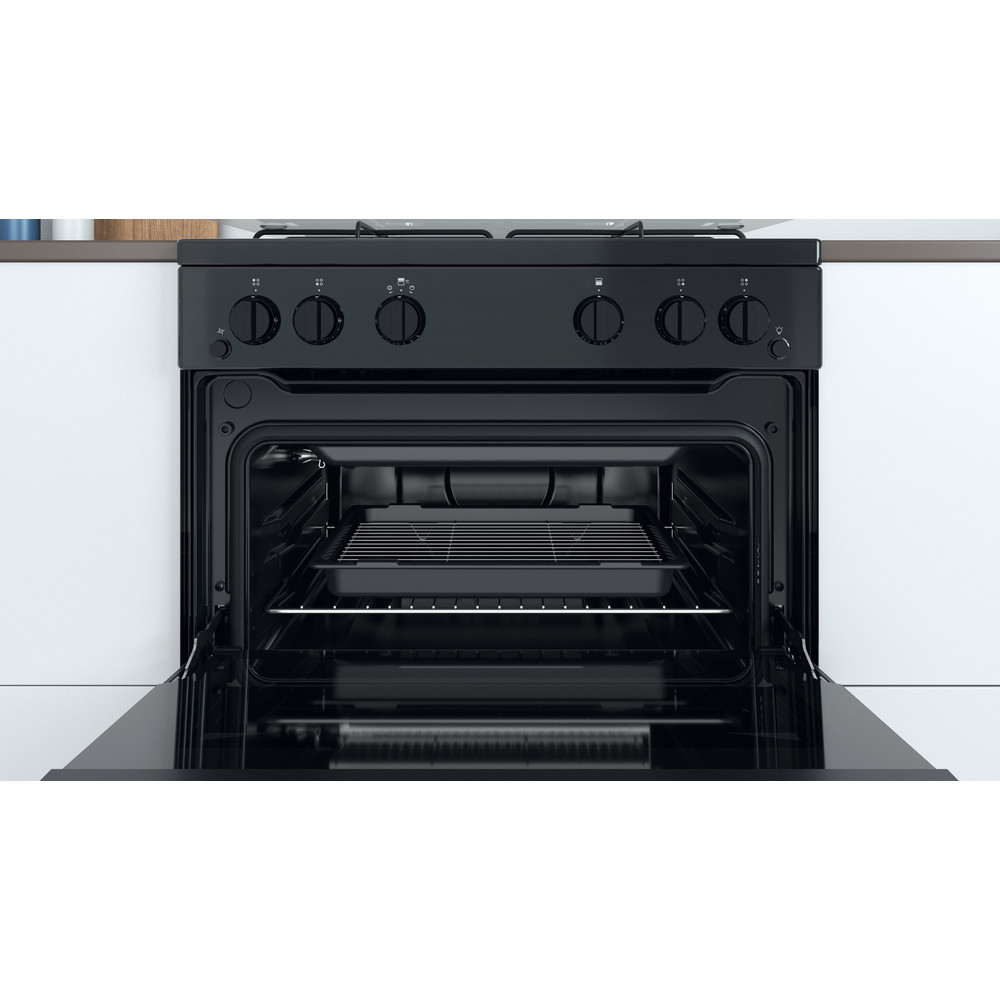 Indesit Double Cooker ID67G0MMB/UK Black A+ Cavity