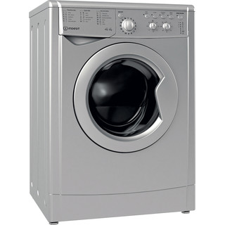 Indesit Washer dryer Free-standing IWDC 65125 S UK N Silver Front loader Perspective