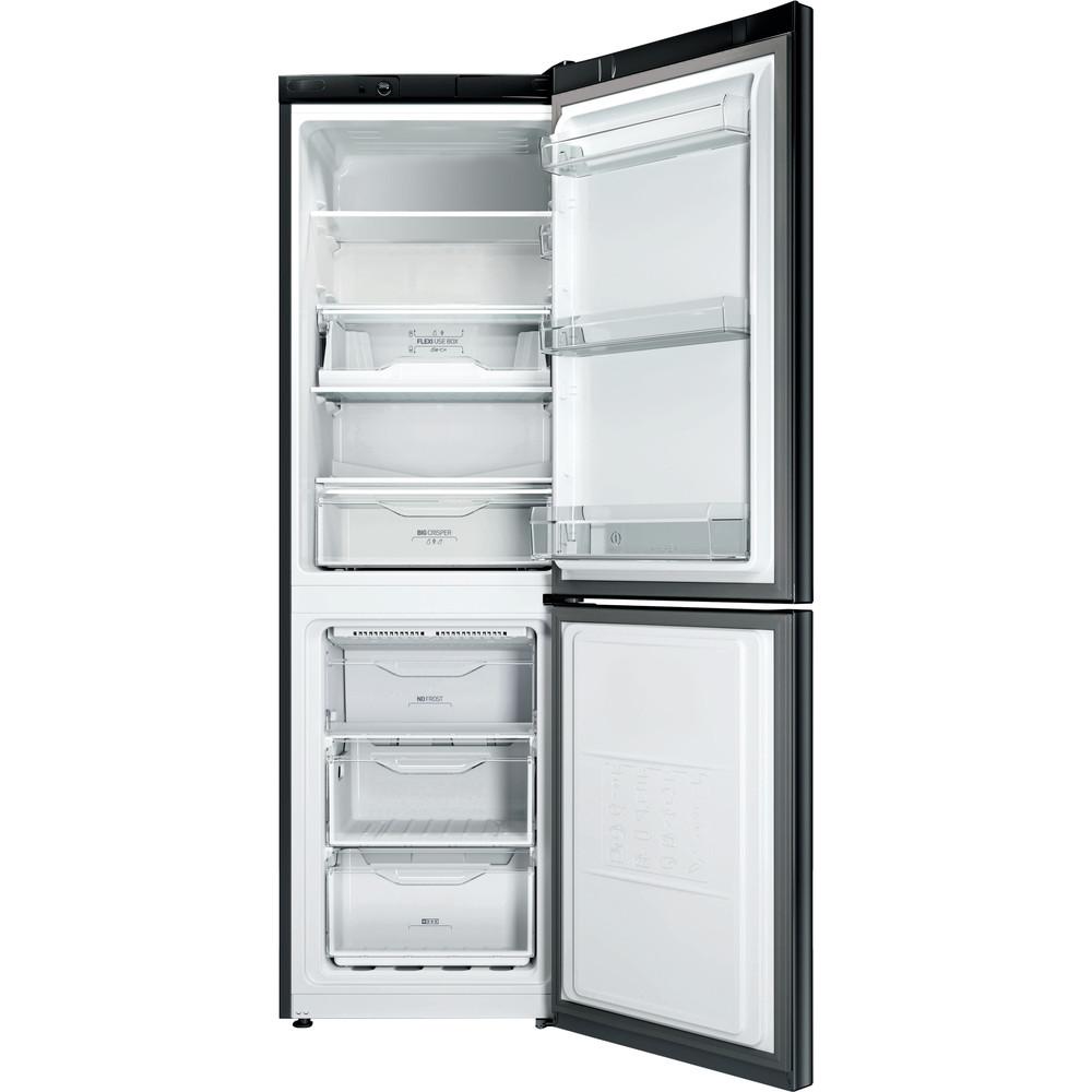 Indesit Комбиниран хладилник с камера Свободностоящи LI8 FF2 K Черен 2 врати Frontal open