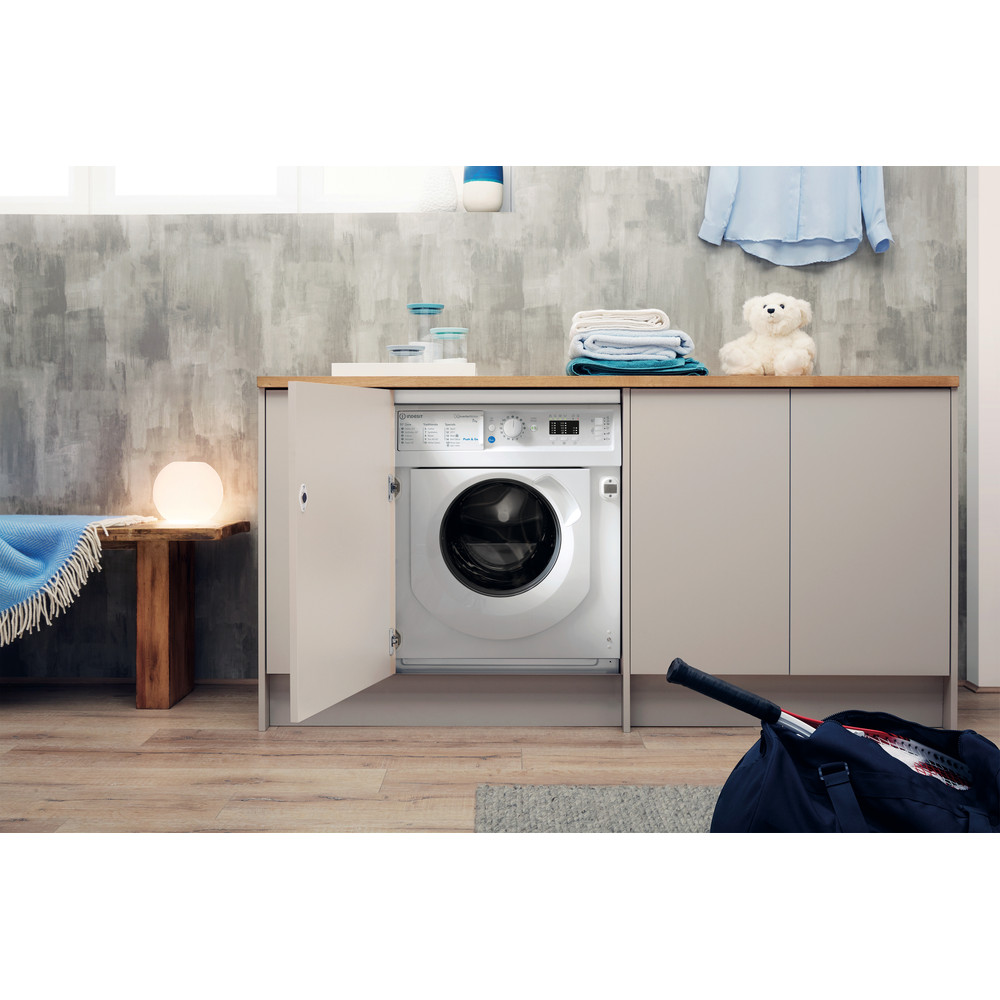 Indesit Washing machine Built-in BI WMIL 71252 UK N White Front loader E Lifestyle frontal