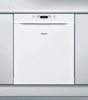 Whirlpool-opvaskemaskine: hvid farve, fuld størrelse - WRUC 3C22