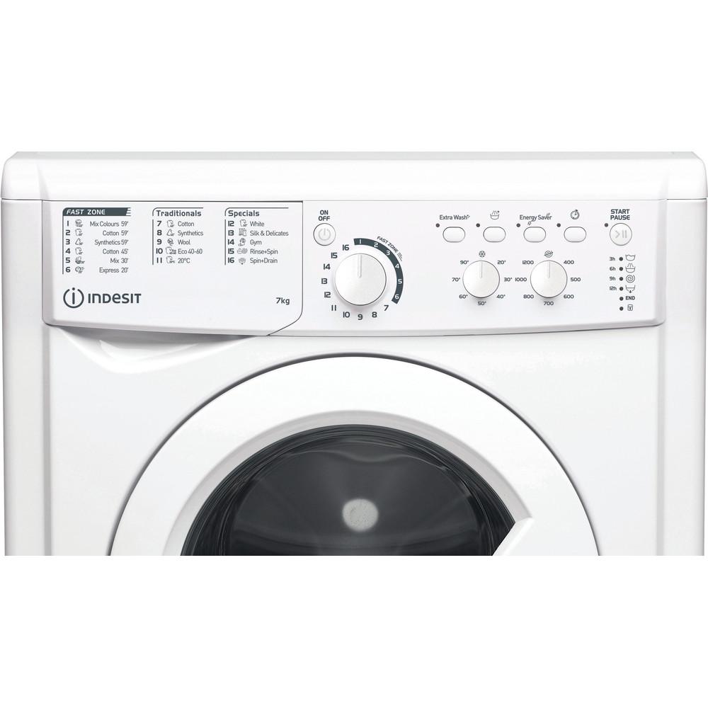 Indesit Перална машина Свободностоящи EWC 71252 W EE N Бял Предно зареждане E Control panel