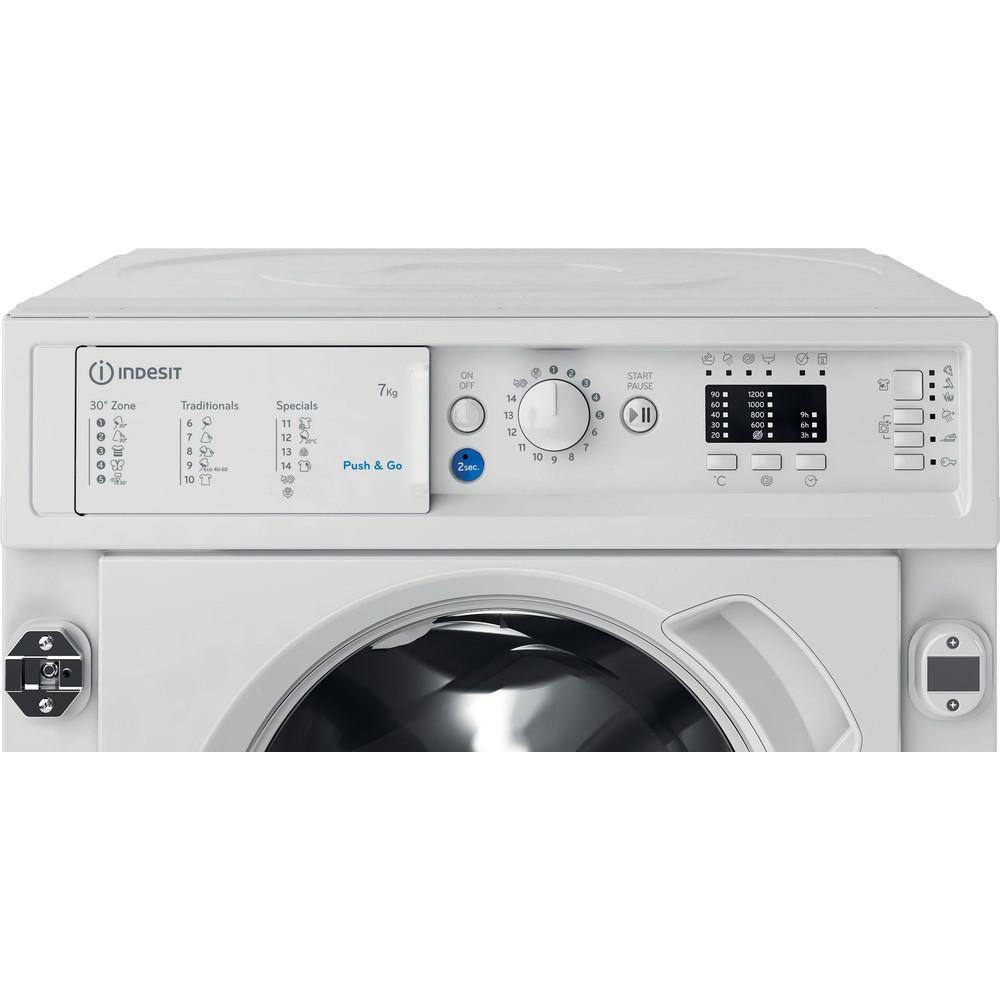 Indesit Veļas mazgājamā mašīna Iebūvējams BI WMIL 71252 EU N Balts Priekšējās ielādes A+++ Control panel