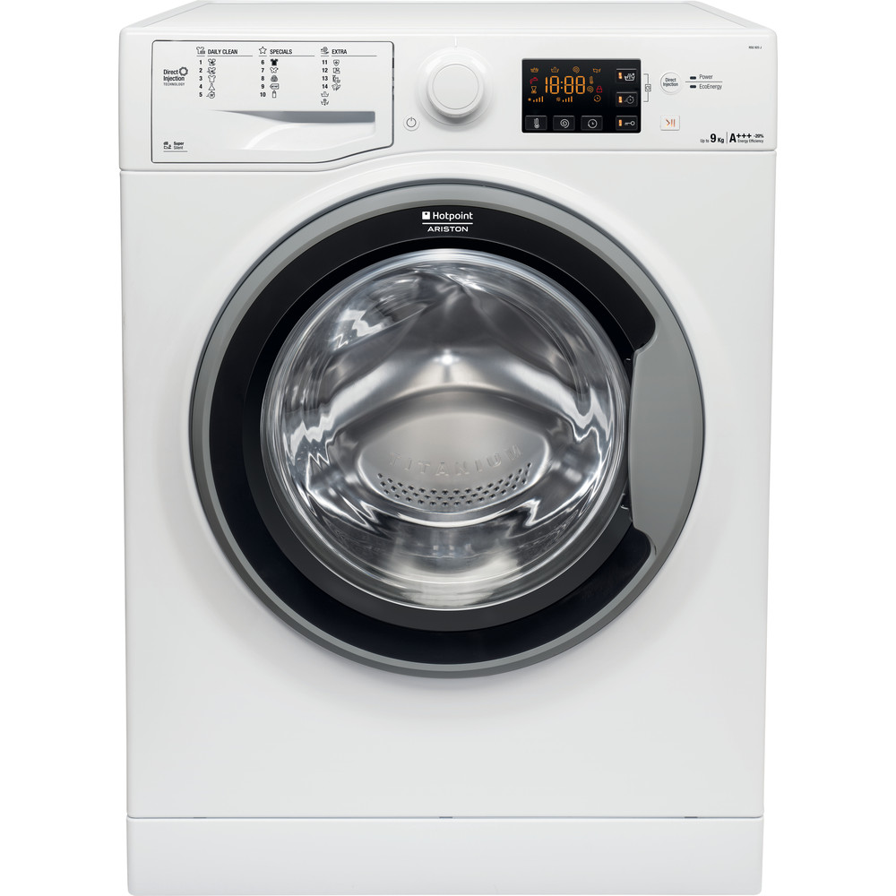 Hotpoint_Ariston Maşină de spălat rufe Neincorporabil RSG 925 JS EU Alb Încărcare frontală A +++ Frontal