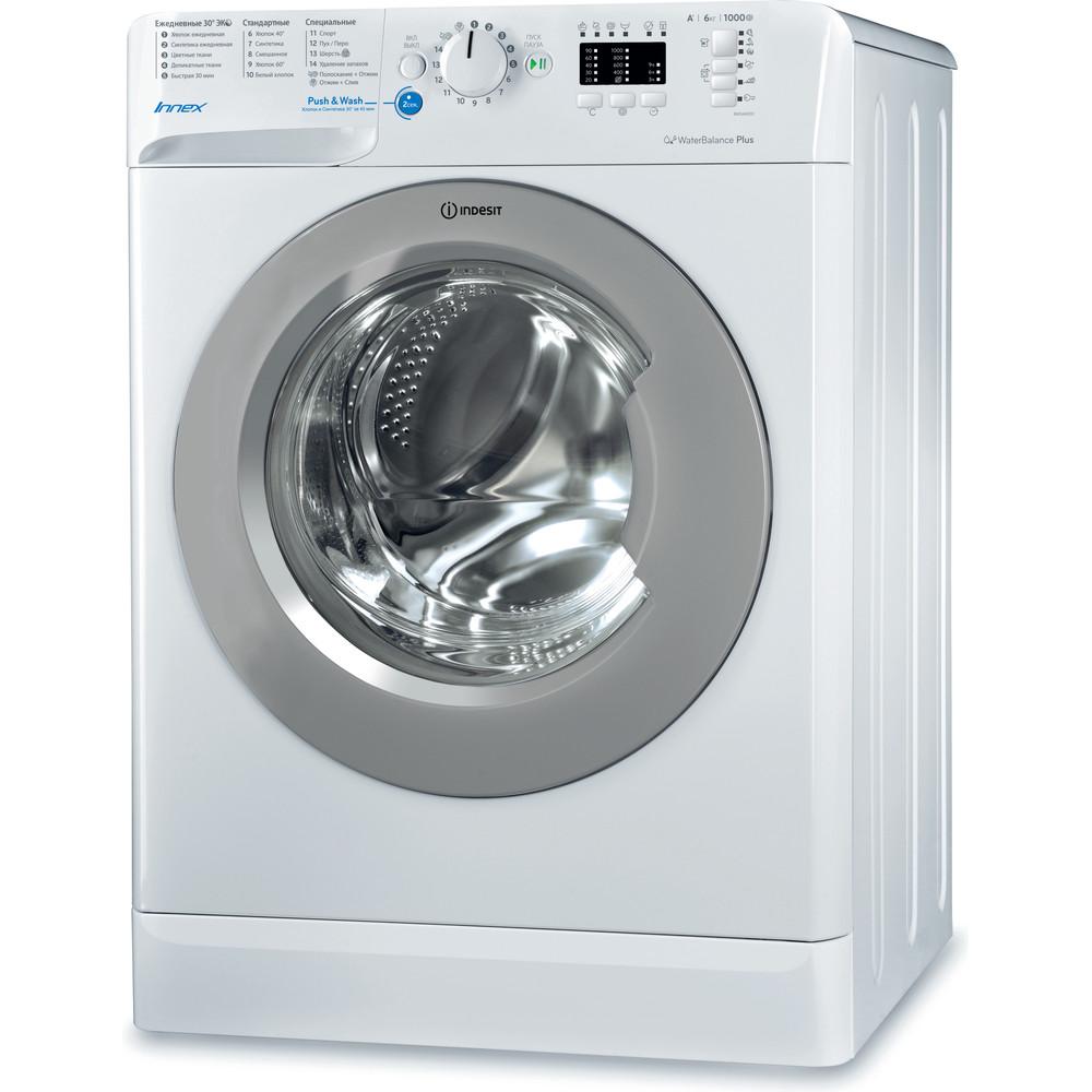 Indesit Стиральная машина Отдельностоящий BWSA 61051 S Белый Фронтальная загрузка A Perspective