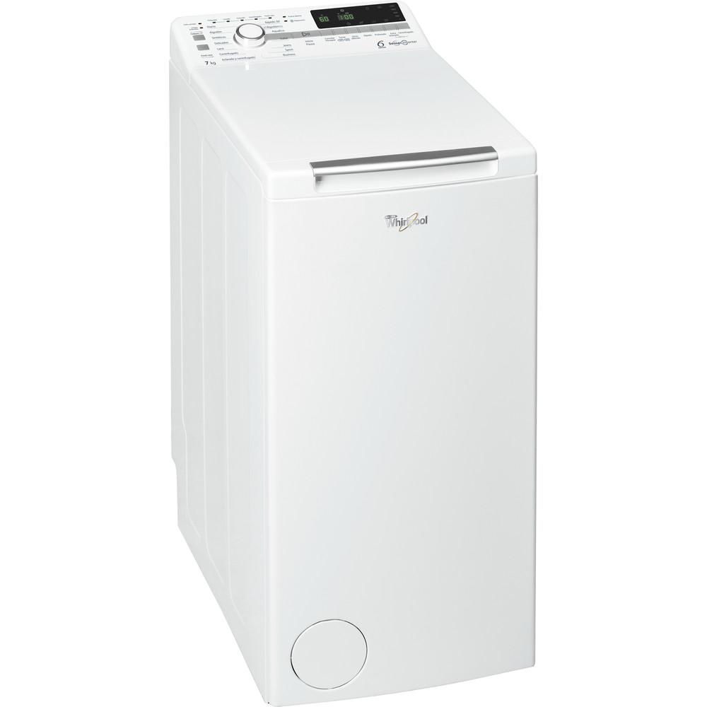 Lavadora carga superior libre instalación Whirlpool 7 kg A+++ TDLR 70220 – 6th Sense
